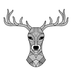Dear coloring page vector