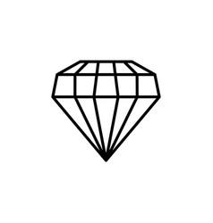 Diamond jewelry line style icon vector