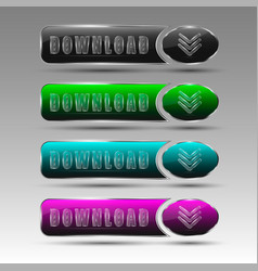 Different download buttons vector