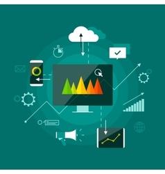 Digital marketing presentation infographic concept vector image