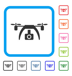 drone video camera framed icon vector image