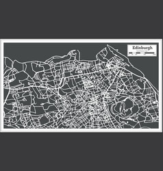 Edinburgh scotland city map in retro style vector