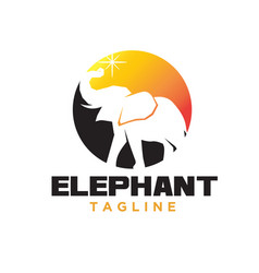 elephant simple logo designs modern vector image