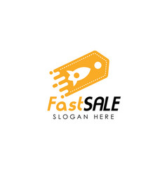 fast shop logo design template fast sale icon vector image
