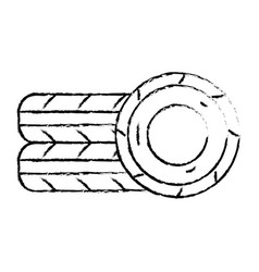 figure cute tires car style design vector image
