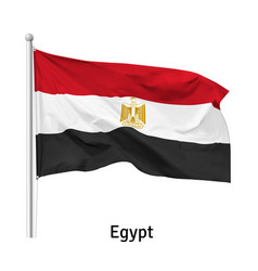flag arab republic egypt vector image