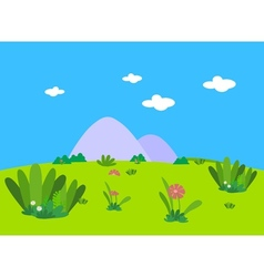 Flower beautiful lanscape vector