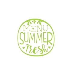 Fresh Menu Summer Calligraphic Cafe Board vector