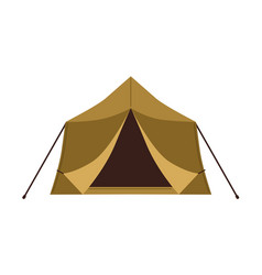Front view canvas wall tent isolated on white vector