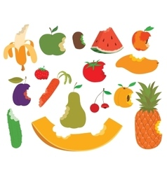 Fruit bite set vector