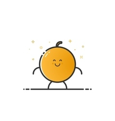 funny orange character vector image