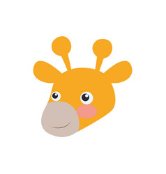 giraffe cartoon head childish vector image