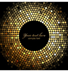 gold disco lights frame vector image