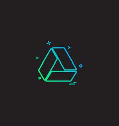 Google drive icon design vector