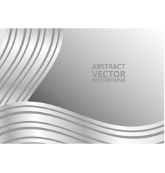 Gray curve abstract background with copy space vector