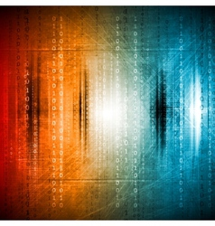 Grunge colorful hi-tech background vector
