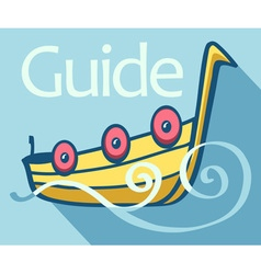 Guide flat vector