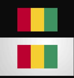 Guinea flag banner design vector