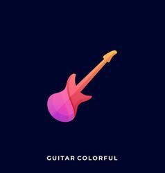 guitar icon design template vector image