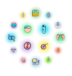 gynecology icons set vector image