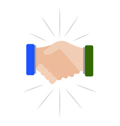 Handshake closing business vector