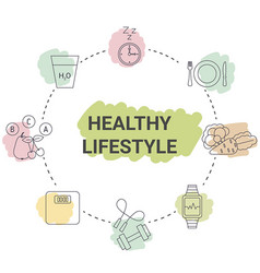 Healthy lifestyle concept healthy lifestyle vector