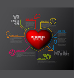 heart infographic report template vector image