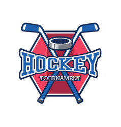 hockey logo with text space for your slogan vector image