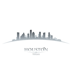 Houston Texas city skyline silhouette vector image