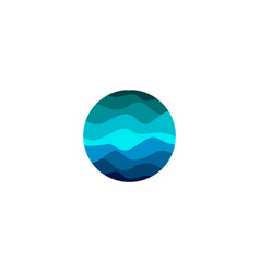 isolated abstract blue color round shape logo vector image