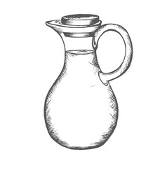 jug pitcher jar bowl vector image