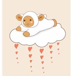 Lamb Cloud Heart vector image