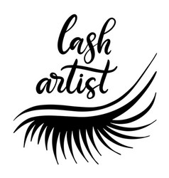Lashes lettering vector