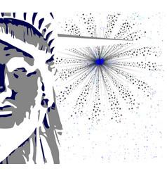 Liberty and sky rocket vector