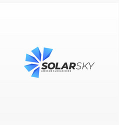 logo solar gradient colorful style vector image