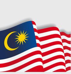 Malaysian waving Flag vector image