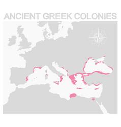 Map ancient greek colonies vector
