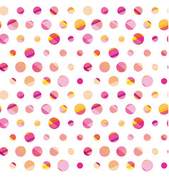 modern polka dot seamless pattern concept surface vector image