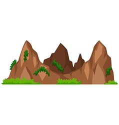 Mountains with green grass vector