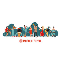 music festival international concert musical vector image