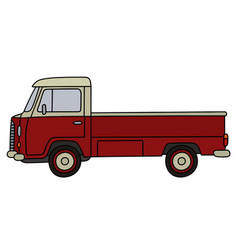 Old small truck vector
