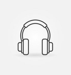 On-ear headphones concept icon in thin line vector