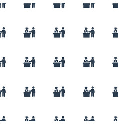 pass control icon pattern seamless white vector image