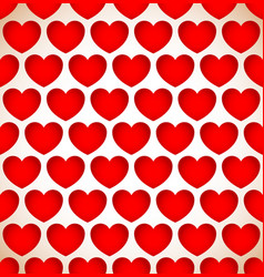repeatable heart pattern heart background eps 10 vector image