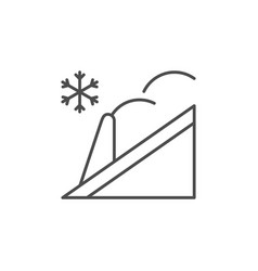 roof snow guard line icon vector image