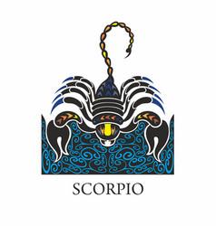 scorpio horoscope zodiac sign vector image