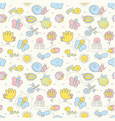 seamless pattern for baby vector image