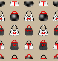 Seamless pattern of womens accessories vintage vector