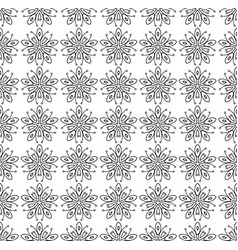 seamless stars deco art pattern vector image