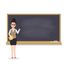 Senior teacher teaching student in classroom vector